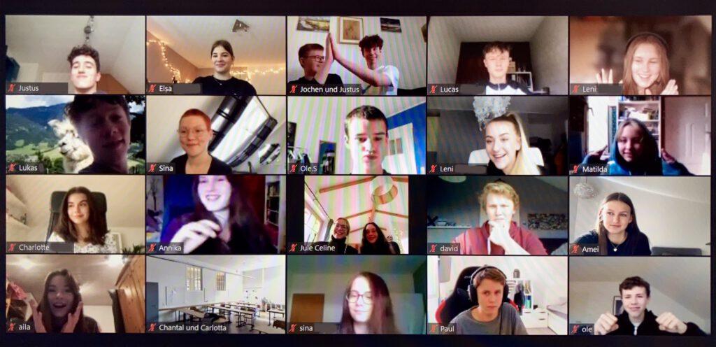 Screenshot der AG Teilnehmer*innen